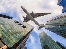Lotniczy samolot fotografia stock