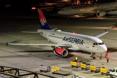 Lotniczy Serbia Fotografia Stock