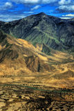 lotniczy Tibet widok Zdjęcie Stock