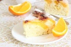 Lotniczy tort z pomarańczami Obraz Royalty Free