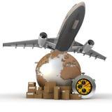 lotniczy transport ilustracji