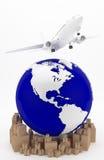 Lotniczy transport w usa Obrazy Stock