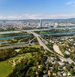 lotniczy Vienna widok Obrazy Stock