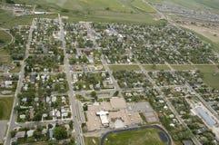 lotniczy widok miasta obraz stock