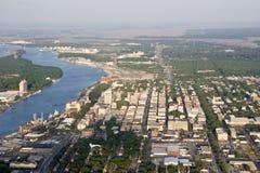 lotniczy widok miasta Zdjęcie Stock