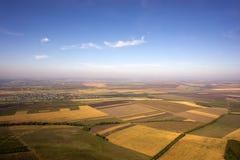 Lotniczy widoku krajobraz Zdjęcie Royalty Free