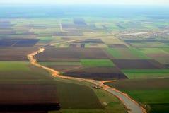 lotniczy ziemi uprawnej zdjęcia w swój Fotografia Royalty Free