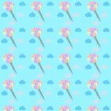 Lotniczych balonów deseniowa wektorowa ilustracja Obraz Royalty Free