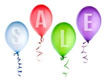 Lotniczych balonów sprzedaż odosobniony Obrazy Royalty Free