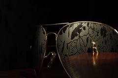Lotników okulary przeciwsłoneczni projektują, one przyglądają się, podróżują, splendoru przedmiot Fotografia Royalty Free