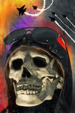 Lotnik czaszka Obrazy Stock
