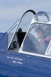 Lotnik w warbird obraz stock