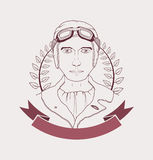 Lotnika emblemat ilustracja wektor