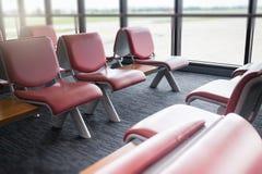 Lotnisk siedzenia Dostępni W czekanie terenie Obraz Royalty Free