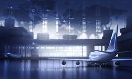 Lotnisko Royalty Ilustracja