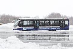 Lotnisko autobus przylepiający etykietkę Obraz Royalty Free