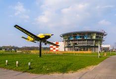 Lotnisko bosschenhoofd z samolotem, lotnictwa seppe Breda holandie, Marzec 30, 2019 obraz stock