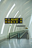 lotnisko bram przewodnika Fotografia Royalty Free