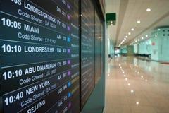 Lotnisko deskowi odjazdy ogłaszają następnych loty zdjęcie royalty free