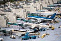 Lotnisko Munich budowa w Lego atmosferze fotografia stock
