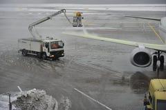 lotnisko śnieg Zdjęcia Royalty Free