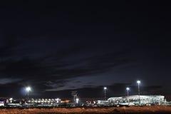 Lotnisko nocą Zdjęcia Stock