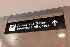 Lotnisko - odjazd wszystko bramy Fotografia Stock