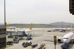 Lotnisko pasa startowego Pegasus płaskie linie lotnicze Obraz Stock