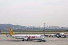 Lotnisko pasa startowego Pegasus płaskie linie lotnicze Obrazy Royalty Free