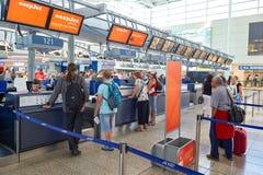 Lotnisko Praga wnętrze Obraz Stock