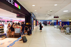 Lotnisko Praga wnętrze Zdjęcia Stock