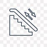 Lotnisko puszka schodków wektorowa ikona odizolowywająca na przejrzystym backgrou ilustracji