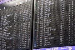 lotnisko rozkład deskowy wyjściowy Obraz Royalty Free