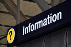 Lotnisko szyldowy info Zdjęcia Stock
