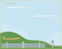 Lotnisko w jasnej pogodzie ilustracji