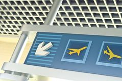 lotnisko znak Fotografia Stock