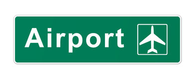 Lotnisko Znak Zdjęcia Royalty Free
