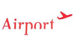 Lotnisko znak Fotografia Royalty Free