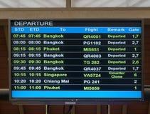 Lotniskowa departude deska Obrazy Royalty Free