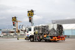 Lotniskowa paliwowa ciężarówka Zdjęcie Stock