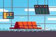 Lotniskowa poczekalnia lub odjazdu hol Zdjęcia Stock