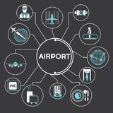 Lotniskowa pojęcie informaci grafika Zdjęcia Royalty Free
