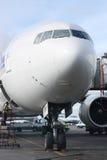 lotniskowa równina obraz stock
