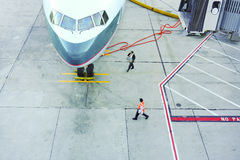 Lotniskowa scena Fotografia Stock