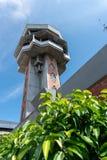 Lotniskowa wie?a kontrolna przy Ngurah Rai lotniskiem mi?dzynarodowym Bali ATC zamierza jest zapobiega? karambole, organizowa? pr obraz stock