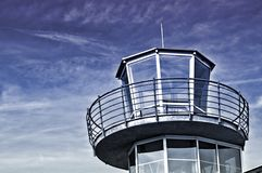 Lotniskowa wieża kontrolna Zdjęcie Stock