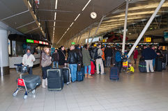 lotniskowe holandie Schiphol Fotografia Royalty Free