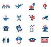 Lotniskowe ikony Zdjęcie Royalty Free