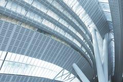 lotniskowego architektury budynku zewn?trznego mi?dzynarodowego katowice nowo?ytny Poland pyrzowice terminal zdjęcie royalty free