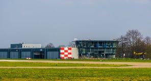 Lotniskowego seppe Breda główny budynek, Bosschenhoofd holandie, Marzec 30, 2019 zdjęcia royalty free